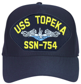 USS Topeka SSN-754 Blue Water (Silver Dolphins) Submarine Enlisted Cap