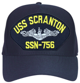 USS Scranton SSN-756 (Silver Dolphins) Submarine Enlisted Direct Embroidered Cap