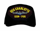 USS Charlotte SSN-766 Blue Water (Silver Dolphins) Submarine Enlisted Cap