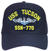 USS Tucson SSN-770 Blue Water (Silver Dolphins) Submarine Enlisted Cap