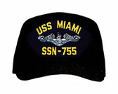 USS Miami SSN-755 ( Silver Dolphins ) Submarine Enlisted Cap