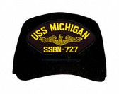 USS Michigan SSBN-727 (Gold Dolphins) Submarine Officer Direct Embroidered Cap