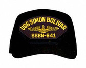 USS Simon Bolicar SSBN-641 (Gold Dolphins) Submarine Officer Cap