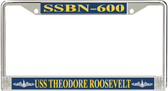 USS Theodore Roosevelt SSBN-600 License Plate Frame