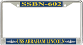 USS Abraham Lincoln SSBN-602 License Plate Frame