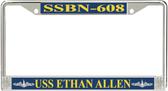 USS Ethan Allen SSBN-608 License Plate Frame