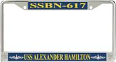 USS Alexander Hamilton SSBN-617 License Plate Frame