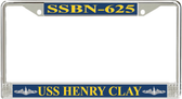 USS Henry Clay SSBN-625 License Plate Frame