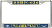 USS Daniel Webster SSBN-626 License Plate Frame