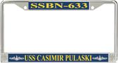 USS Casimir Pulaski SSBN-633 License Plate Frame
