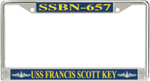 USS Francis Scott Key SSBN-657 License Plate Frame