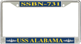 USS Alabama  SSBN-731 License Plate Frame