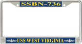 USS West Virginia SSBN-736 License Plate Frame