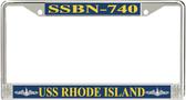 USS Rhode Island SSBN-740 License Plate Frame