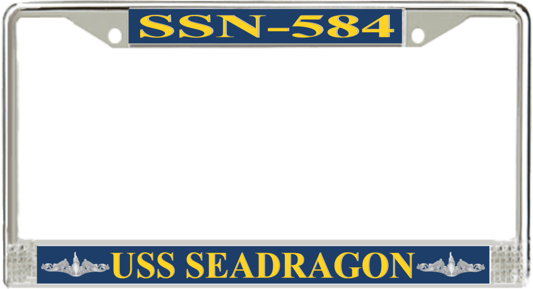 USS Seadragon SSN-584 License Plate Frame - Submarine Gear