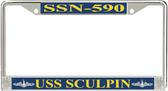 USS Sculpin SSN-590 License Plate Frame