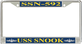 USS Snook SSN-592 License Plate Frame