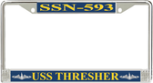 USS Thresher SSN-593 License Plate Frame