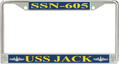 USS Jack SSN-605 License Plate Frame