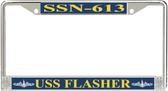 USS Flasher SSN-613 License Plate Frame