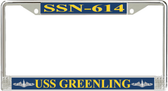 USS Greenling SSN-614 License Plate Frame