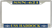 USS Haddock SSN-621 License Plate Frame