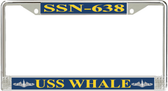 USS Whale SSN-638 License Plate Frame