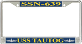 USS Tautog SSN-639 License Plate Frame