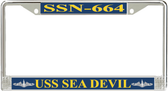 USS Sea Devil SSN-664 License Plate Frame