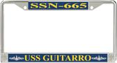 USS Guitarro SSN-665 License Plate Frame