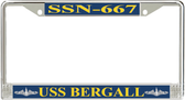 USS Bergall SSN-667 License Plate Frame
