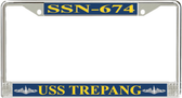 USS Trepang SSN-674 License Plate Frame