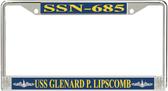 USS Glenard P. Lipscomb SSN-685 License Plate Frame