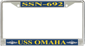 USS Omaha SSN-692 License Plate Frame