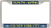 USS New York City SSN-696 License Plate Frame