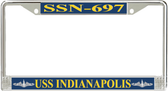 USS Indianapolis SSN-697 License Plate Frame