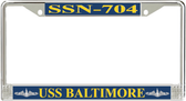 USS Baltimore SSN-704 License Plate Frame