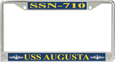 USS Augusta SSN-710 License Plate Frame