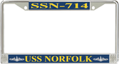 USS Norfolk SSN-714 License Plate Frame
