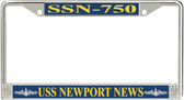 USS Newport News SSN-750 License Plate Frame