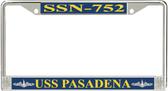 USS Pasadena SSN-752 License Plate Frame