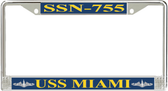 USS Miami SSN-755 License Plate Frame