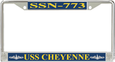 USS Cheyenne SSN-773 License Plate Frame