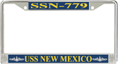 USS New Mexico SSN-779 License Plate Frame