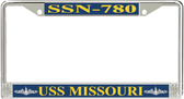 USS Missouri SSN-780 License Plate Frame