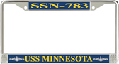 USS Minnesota SSN-783 License Plate Frame