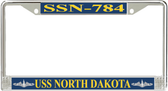 USS North Dakota SSN-784 License Plate Frame