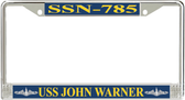USS John Warner SSN-785 License Plate Frame