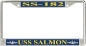USS Salmon SS-182 License Plate Frame