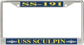 USS Sculpin SS-191 License Plate Frame